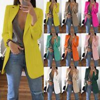 Plus Size New Fashion Women Casual Slim Business Blazer Suit Coat Jacket Outwear