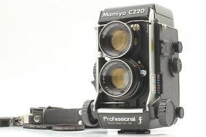 [MINT] Mamiya C220 Pro F 6x6 TLR Camera Sekor 80mm f2.8 Blue Dot Lens from JAPAN