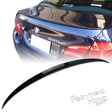 --Painted For BMW 5-Series F10 M5 Type Rear Trunk Spoiler ABS 550i #668 BLACK
