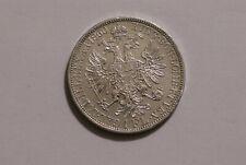 AUSTRIA 1 FLORIN 1860 SILVER HIGH GRADE B34 #K7727