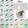 10pcs JST 2 3 4 5 6 7 8 *12 Pin Male & Female Battery Connector Plug With Cable