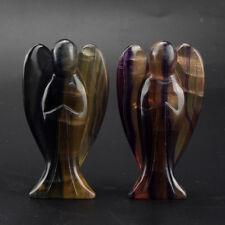 1 piece big size 70mm natural fluorite angel figurine crystal healing reiki gift