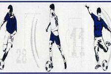 BLUE FOOTBALL FOOTBALLER CHILDRENS BOYS GIRLS TEENAGE WALLPAPER BORDER DLB50092