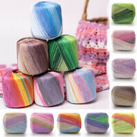 50g/Ball Colour Gradient Cotton Yarn DIY Hand Knitting Crochet Lace Thread Yarns