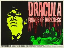 """DRACULA PRINCE OF DARKNESS repro UK quad poster 30x40"""" Hammer Horror FREE P&P"""