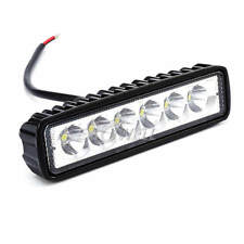 18W 6 inch 6 LED Work Light Flood Spot Lights Offroad Driving Fog Aluminium Bar
