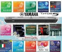 TYROS5 Expansion Styles &Sounds (15PACKS)  DOWNLOAD
