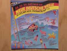 DA,DA,DA, DAS WAR DIE NEUE DEUTSCH WELLE CD: WITT TRIO DÖF UKW CLIFF IDEAL FALCO