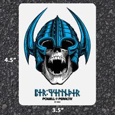 "Powell Peralta Per Welinder Nordic Skull Clear Skateboard Sticker 4.5"" x 3.5"""