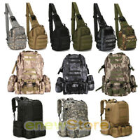 7L/55L Molle Outdoor Military Tactical Bag Camping Hiking Trekking Backpack+Gift
