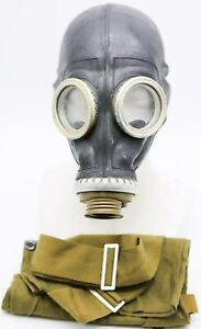 BEST PRICE Authentic Soviet Russian GAS MASK GP-5 black & bag Genuine Vintage