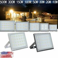 500W- 10W LED Flood Lights Waterproof Outdoor Garden Lamp Slim Cool/Warm White