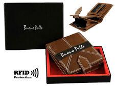 Homme Design Portefeuille Cuir Rfid Safe sans Contact Carte Blocage Id