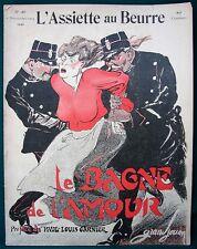 """L'Assiette au Beurre #188 Prostitution """"Le Bagne"""" 1904 French Satire Art"""