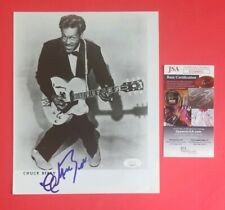 """CHUCK BERRY SIGNED VINTAGE 8""""X10"""" PHOTO CERTIFIED AUTHENTIC WITH JSA COA"""