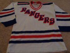 VTG JERSEY CCM NEW YORK RANGERS SZ L/XL YOUTH HOCKEY 90S NHL SEWN
