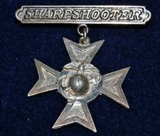 US Marine Corps EGA - Rifle Sharpshooter Badge / Medal - NHM PB (1847)