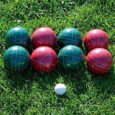 heirloom quality 10 pc Bocce Ball set 8 balls 1 pill 1 nylon case lawn bowling