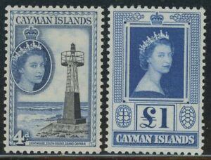 Cayman Islands 1953 Elizabeth Definitive set Sc# 135-49 mint