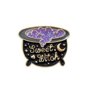 CUALDREN  PIN Spooky Badge Brooch Gothic Halloween Horror  Witch Magic Potion