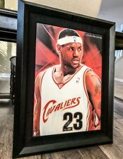 STUNNING Lebron James Signed Rookie Jersey Numbers Canvas Painting UDA /23!