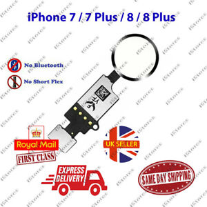 iPhone 7 / 7 Plus / 8 / 8 Plus Home Button Flex Cable Replacement White Silver