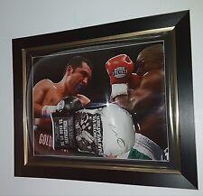 RARE Oscar De La Hoya signé Boxe Gant autographe vs Floyd Mayweather Display