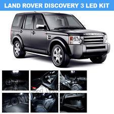 13x LAND ROVER DISCOVERY 3 XENON WHITE ERROR FREE INTERIOR LED LIGHT BULB KIT