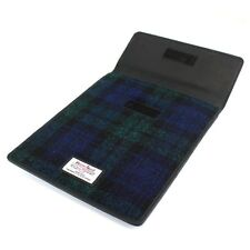Harris Tweed Mini Tablet Case Negro Reloj Nuevo