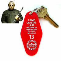 """""""CAMP CRYSTAL LAKE"""" Friday the 13th PROP KEY TAG Jason Voorhees movie Part 2 3"""