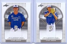 """(2) ETHAN HANKINS 2017 """"1ST EVER PRINTED"""" LEAF PERFECT GAME ROOKIE CARD LOT!"""