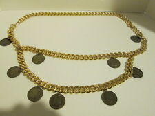 Gold Chain Belt  With 8 George Washington Coin Charms! beautiful condition- rare