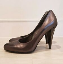 Oasis Leather Silver Grey Court Heels Size 6 (39) - New