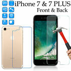 9H Tempered Glass screen protector 4H film Apple iPhone 7 & 7 Plus front back
