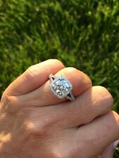 2.20 Ct Round Cut Gorgeous Moissanite Engagement Anniversary Ring 925 Silver