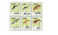KUB7504 Fish and fishing vessels 6 pcs MNH 1975
