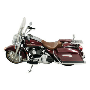 MUSTANG Wide Tripper Solo Seat, Braun, for Harley Davidson FLHR, Flhx 97-07