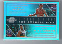 ZION WILLIAMSON LEBRON JAMES 2019-20 CONTENDERS OPTIC HISTORIC PICKS PRIZM RC
