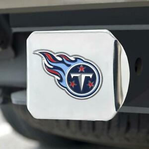 Tennessee Titans Hitch Cover Color Emblem on Chrome [NEW] NFL Truck Cap Trailer