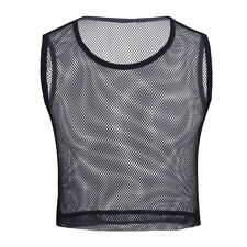 Wet Look Sexy Men's T-Shirt See Through Sheer Mesh Lace Up Muscle Slim T-shirt