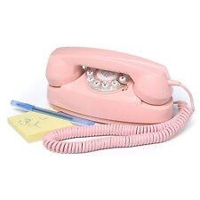 Vintage Barbie Telephone Pink Retro Phone Cord Rotary Desk Bed Room Gift For Her
