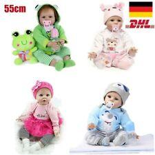 55CM Reborn Baby Puppe Lebensecht Handgefertigt Weich Silikon Vinyl Mädchen DHL