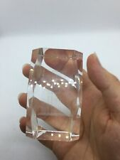 Vintage New York City World Trade Center Twin Towers Clear Glass Souvenir As Is