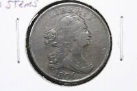 1806 Small 6, No Stems Draped Bust Half Cent, Choice Very Fine