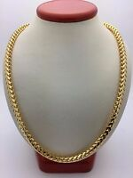 "14k Yellow Gold Franco Chain Necklace 28"" 5mm 95g Solid Heavy Link"