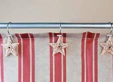 Shower Curtain Hooks Rustic Barn Stars Set of 12 Western Lodge Patriotic Bath