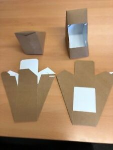 25 x Sandwich Cartons BIO -112 Deep Fill Biodegradable Kraft Board Boxes Party