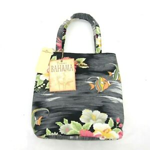 New Tommy Bahama Soon Be Sushi Handbag Tote Bag Purse Fish Floral Small