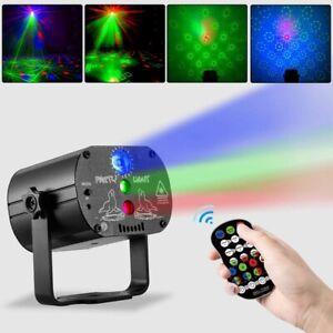 USB Laserlicht DJ Projektor LED Disco Party Licht 60 Muster Laser Lichteffekt