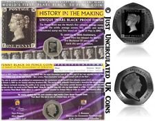 More details for 2020 the penny black stamp 50p coin - fifty pence limited edition pobjob